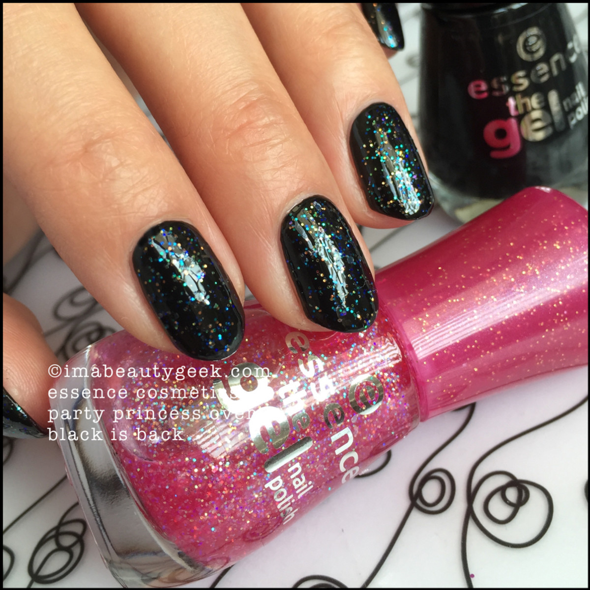 Essence Nail Polish_Essence Party Princess over Black is Back