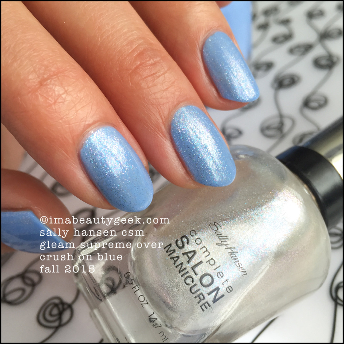 Sally Hansen Gleam Supreme over Crush on Blue Fall 2015_2