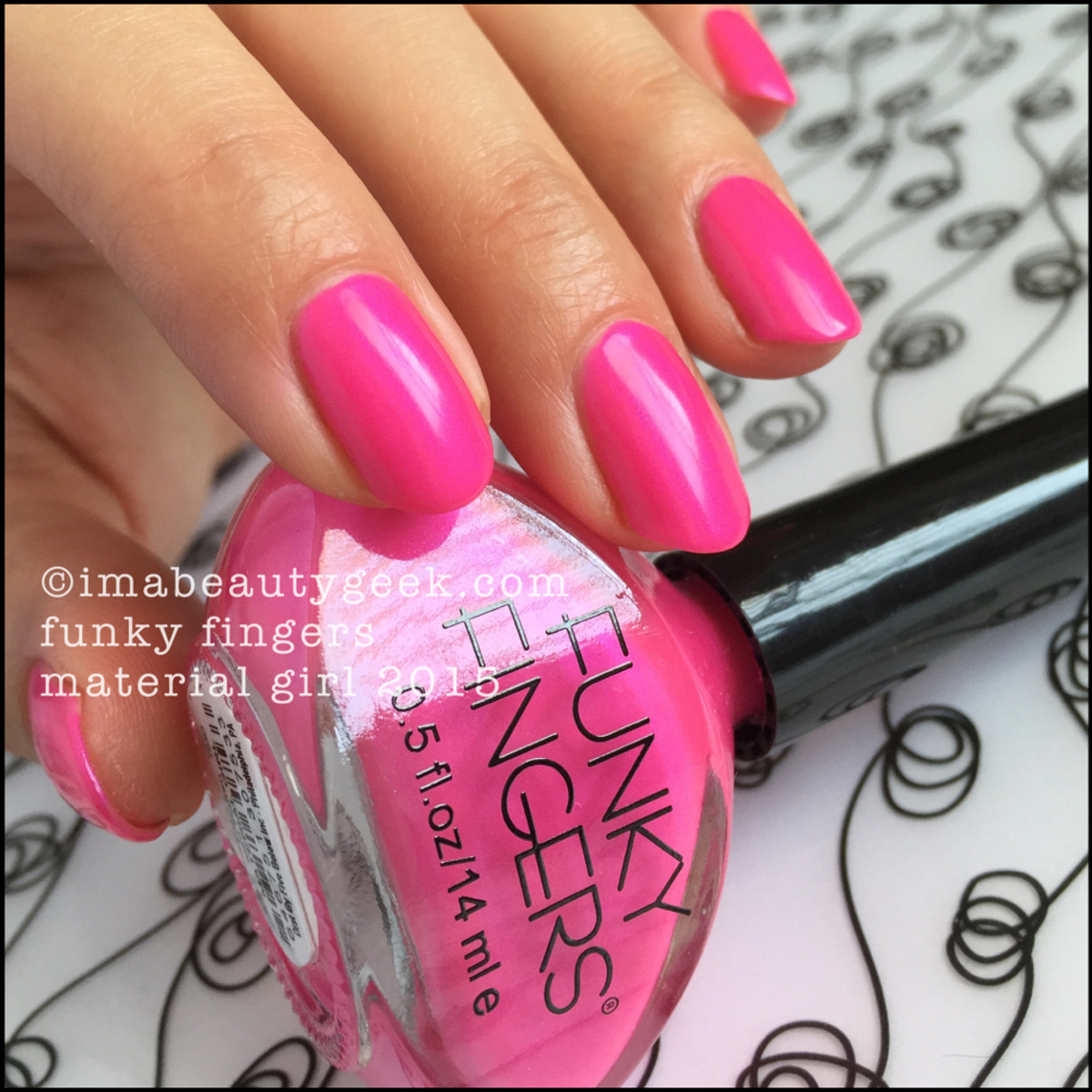 Funky Fingers Material Girl Swatch Review Beautygeeks_1