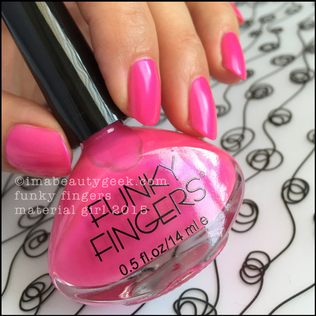 Funky Fingers Material Girl Nail Polish _3