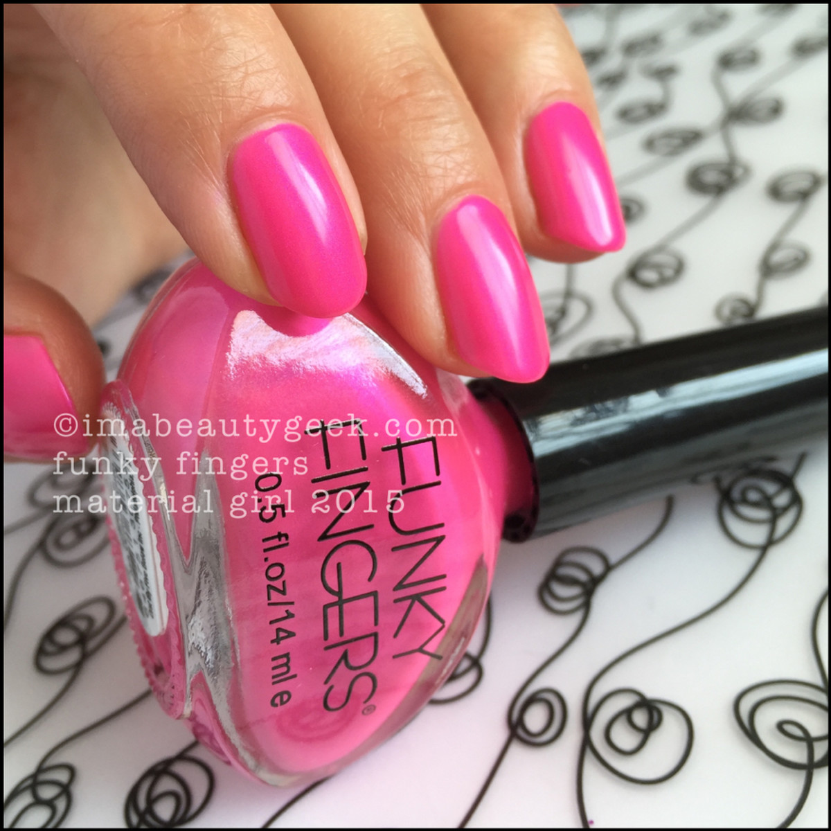 Funky Fingers Nail Polish Material Girl Swatch Beautygeeks _4