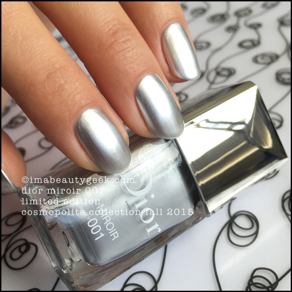 Dior Miroir Nail Polish 001 Fall 2015 Limited Edition Cosmopolite Collection