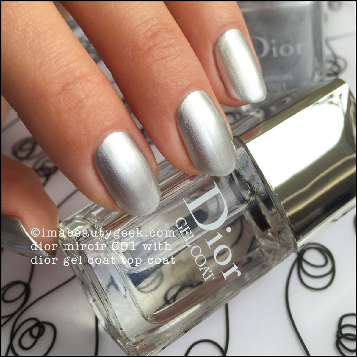 Dior miroir 001 swatches review beautygeeks for Vernis a ongle miroir