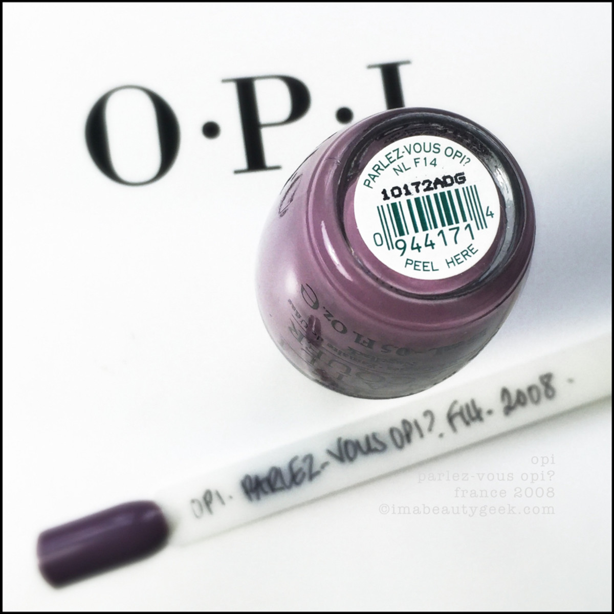 OPI ParlezVous OPI Swatch Beautygeeks _ 1