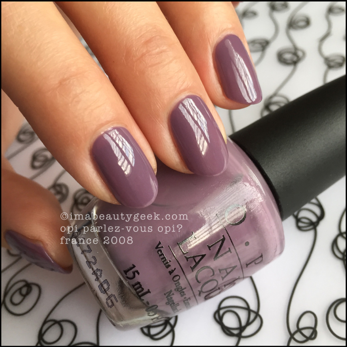 OPI Parlez Vous OPI Swatch Beautygeeks _ 5