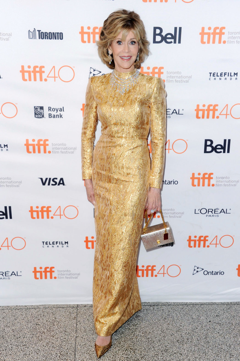 Jane Fonda at the TIFF 2015 premiere of Youth_makeup Eddie Malter