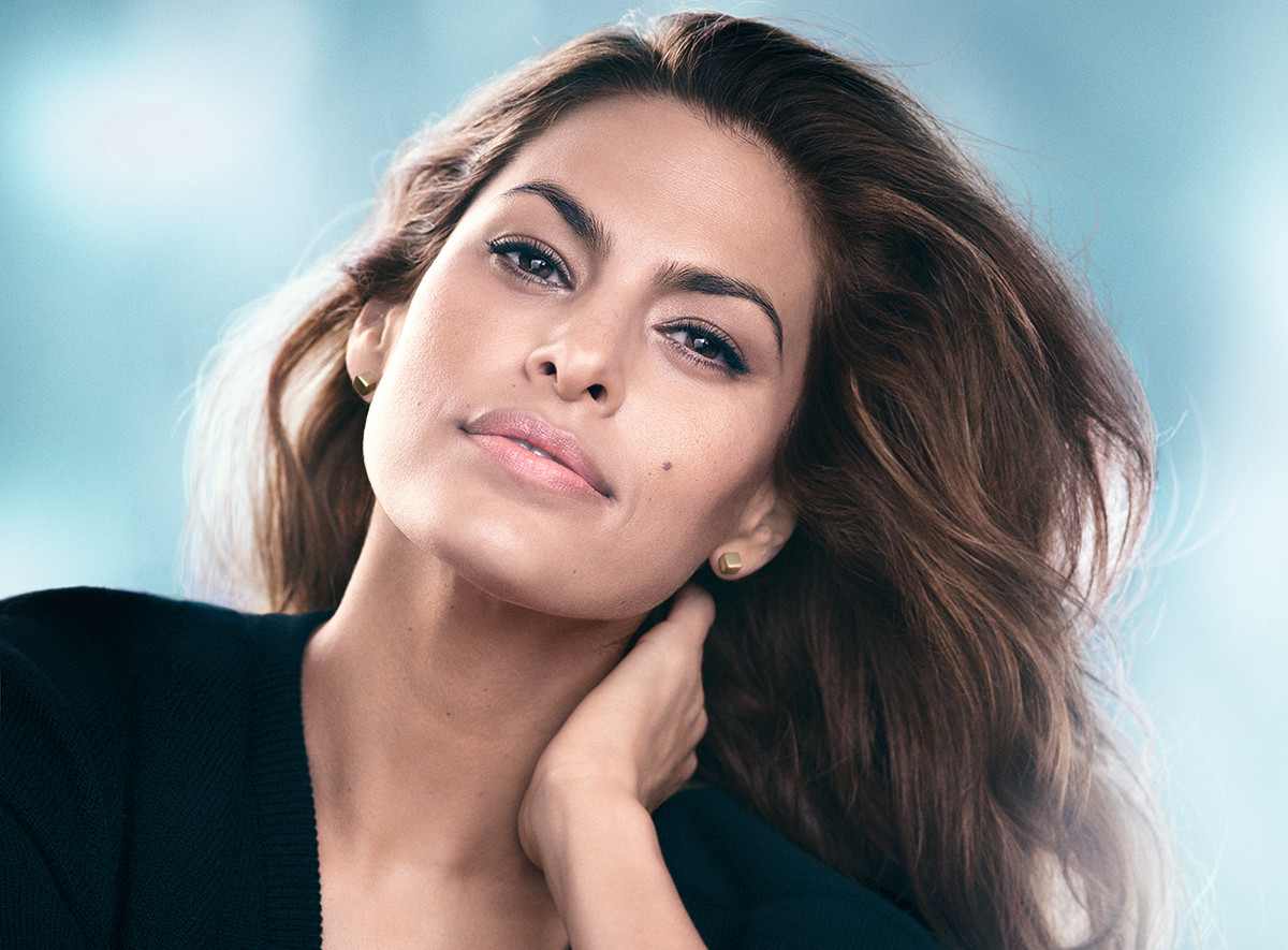 Actress Eva Mendes, 41, is the face of Estée Lauder New Dimension