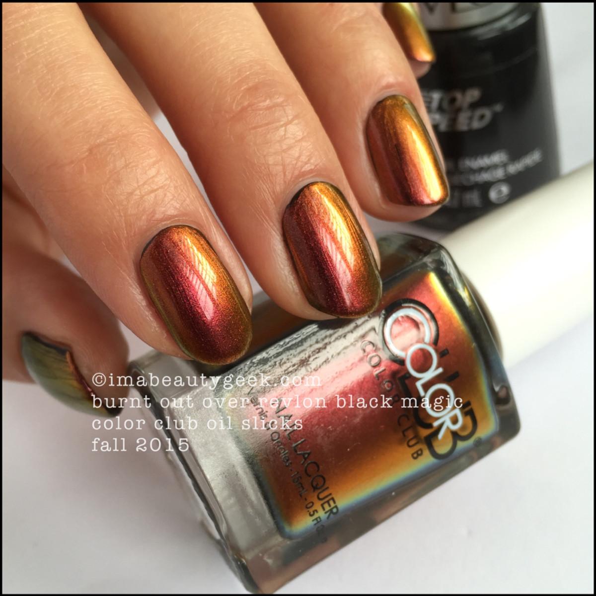 Color Club Oil Slicks_Color Club Burnt Out over Black_7