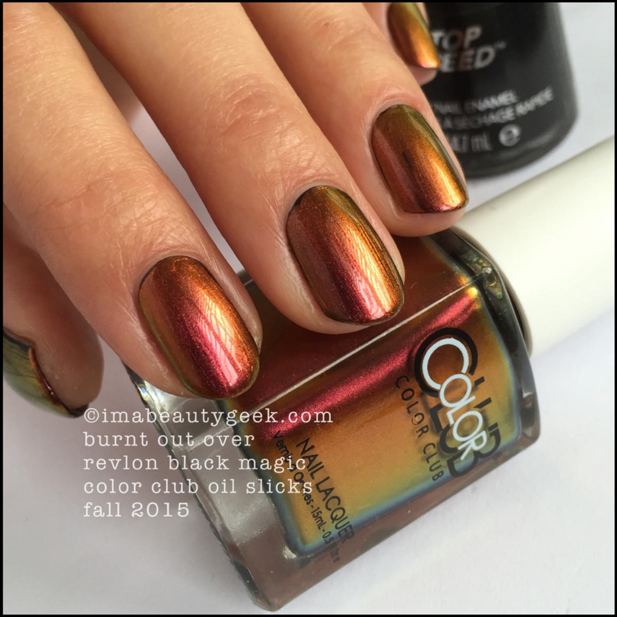 Color Club Oil Slicks_Color Club Burnt Out over Black_8