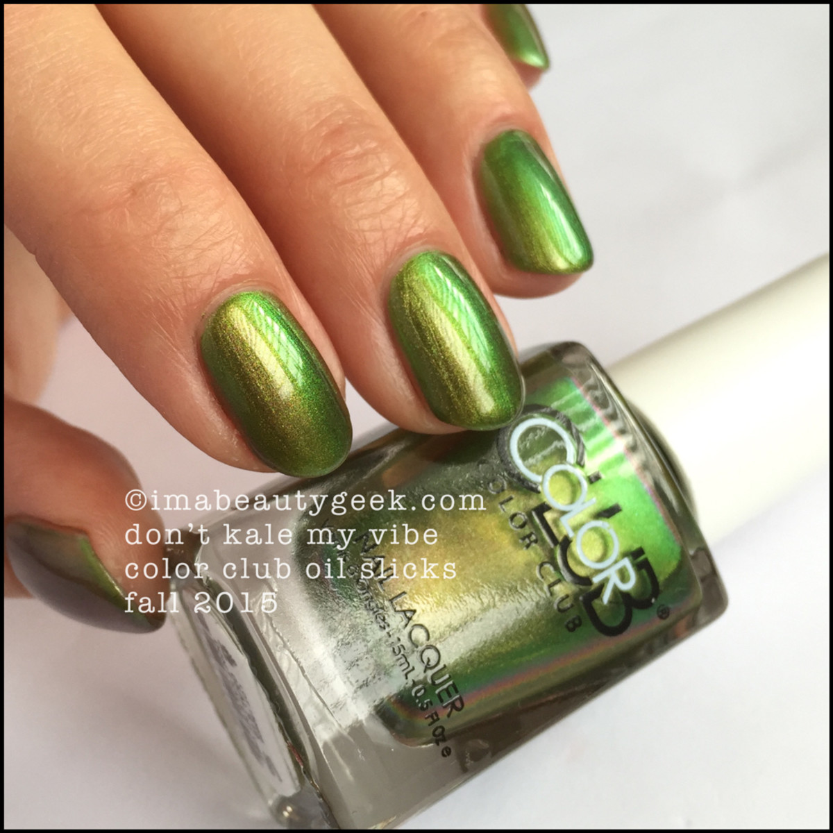 Color Club Oil Slicks_Color Club Dont Kale My Vibe Swatches_1