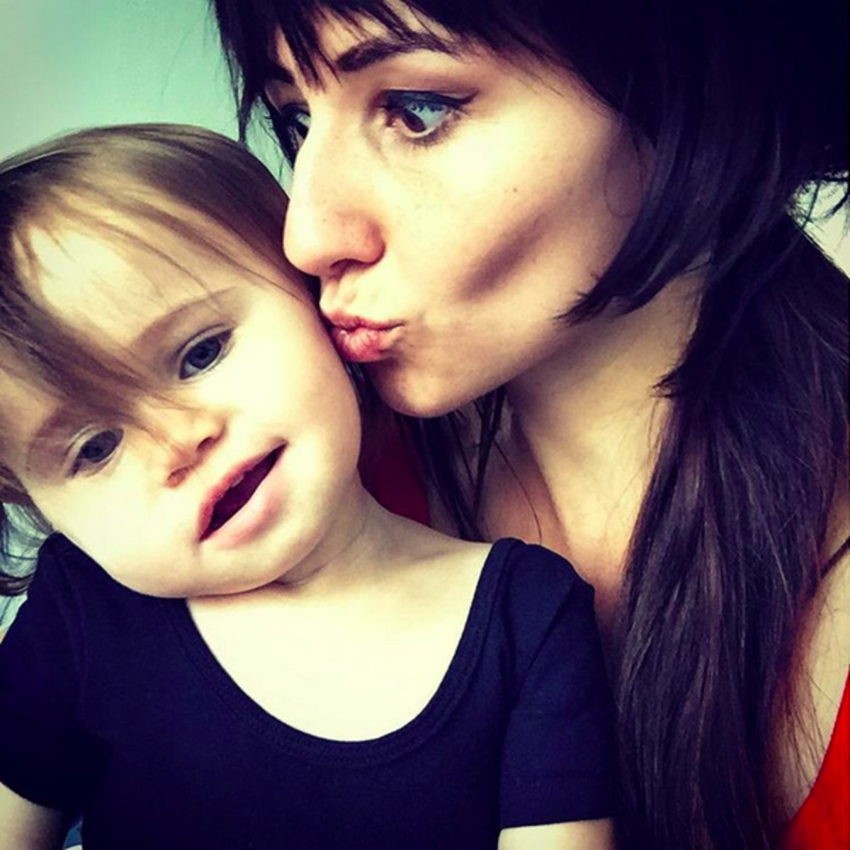 Singer Lights and daughter Rocket