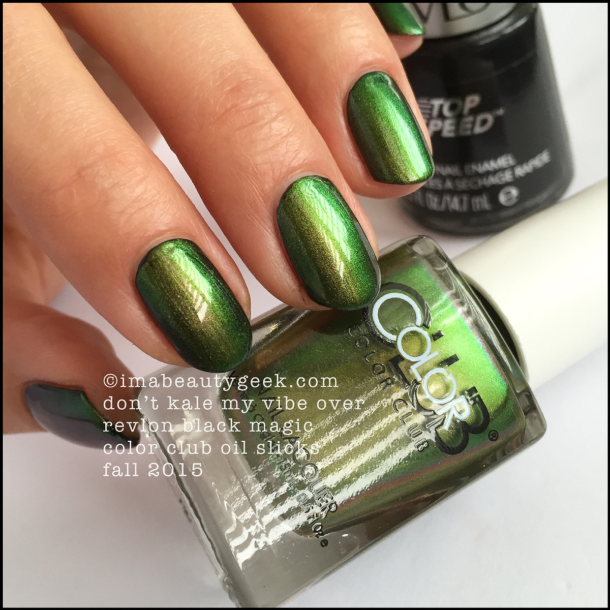 Color Club Oil Slicks_Color Club Dont Kale My Vibe over Black_3
