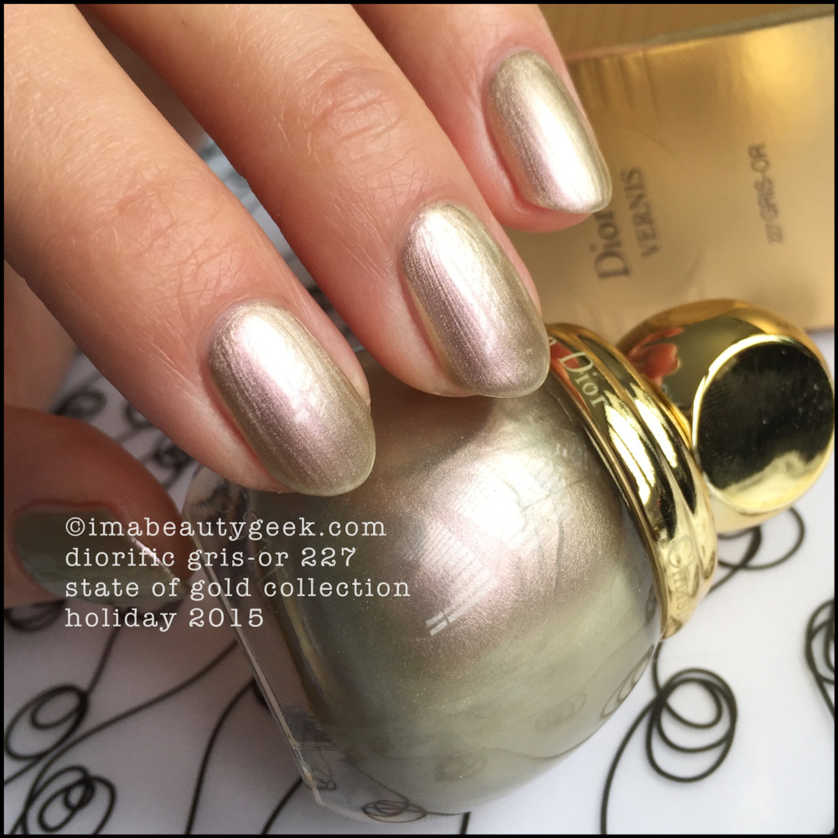 Dior State of Gold Holiday 2015_Dior Gris Or 227 Vernis Diorific