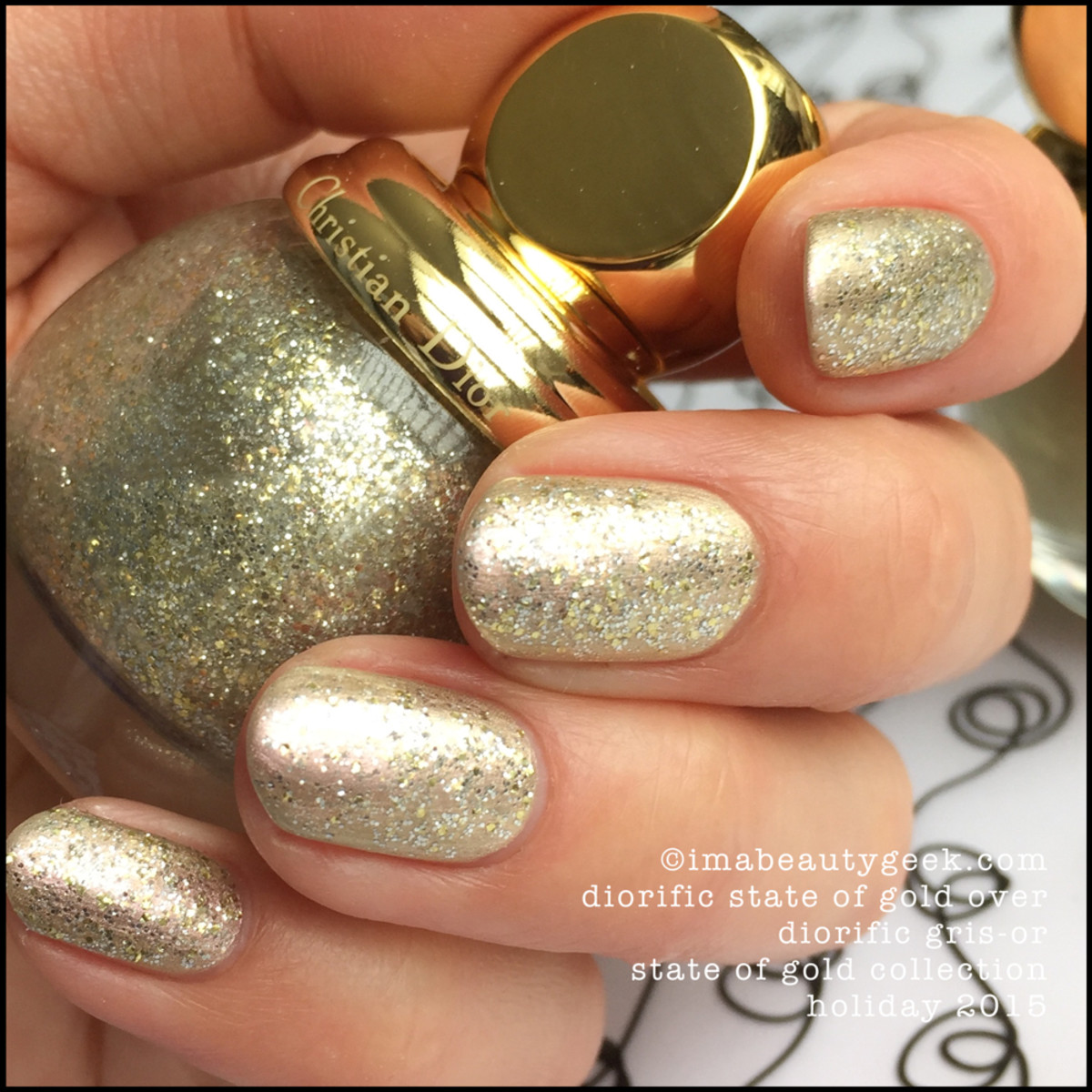 Diorific State of Gold over Dior Gris Or_Diorific Vernis State of Gold Collection Holiday 2015