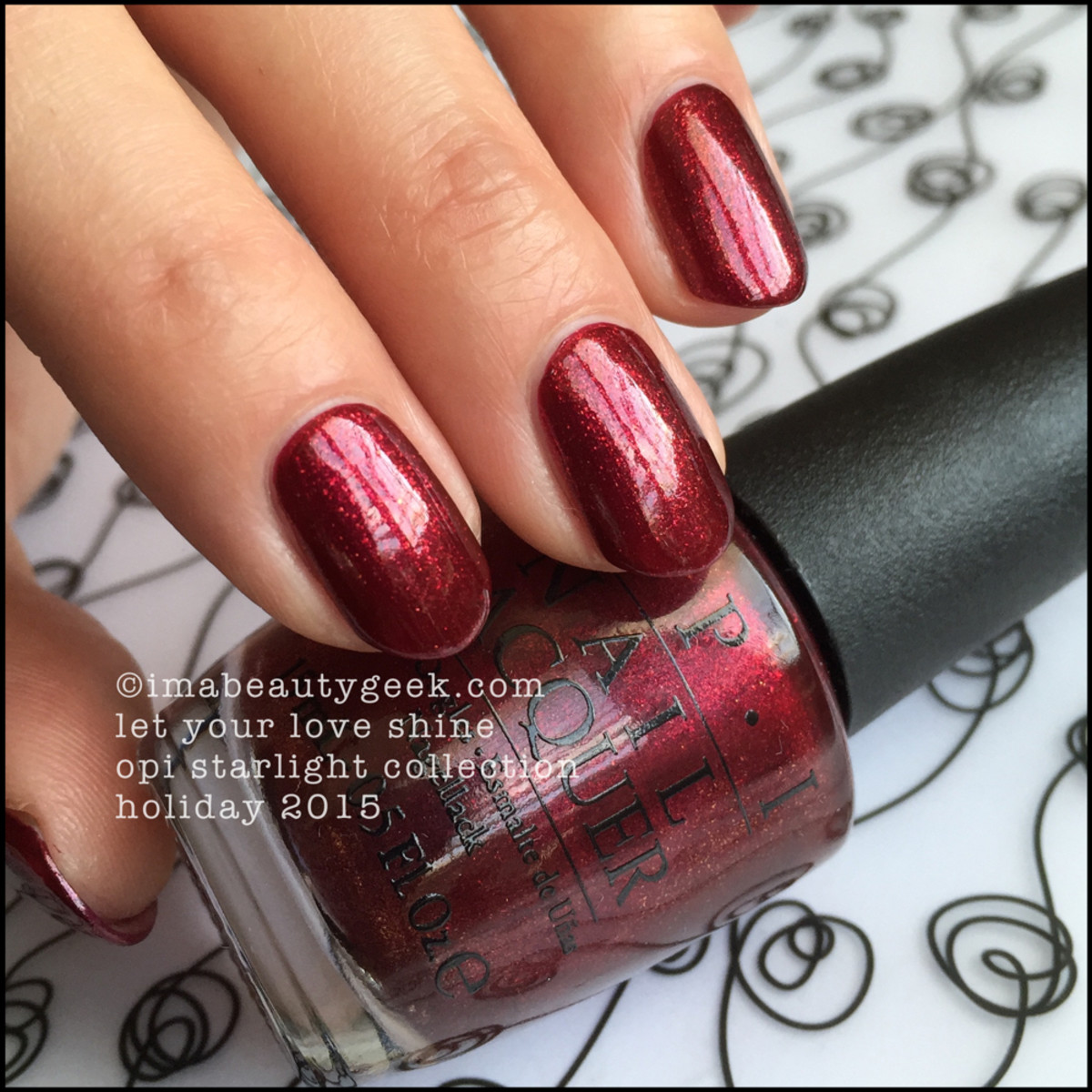 OPI Let Your Love Shine_OPI Starlight Collection Swatches Holiday 2015