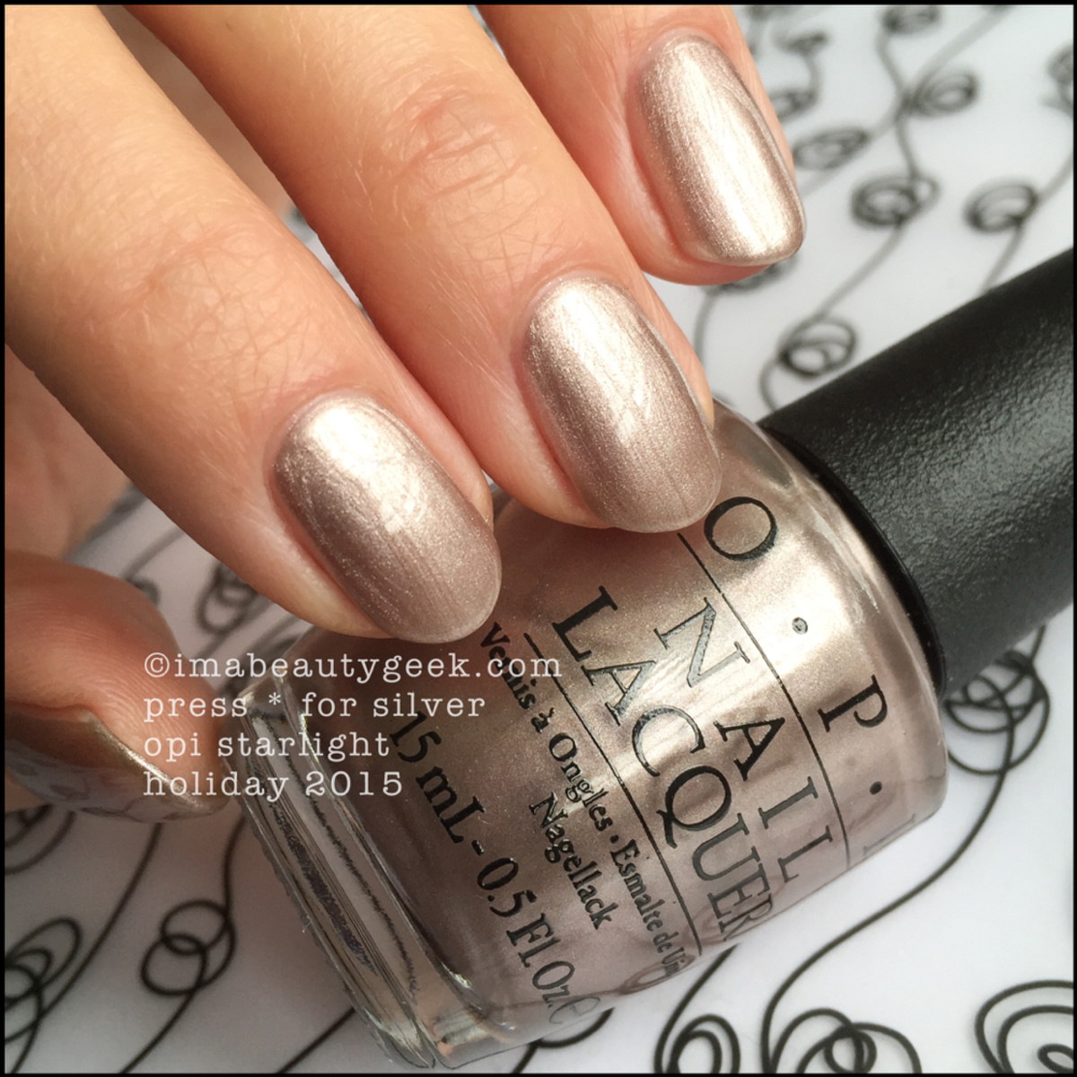 OPI Starlight Collection 2015_OPI Press Star for Silver