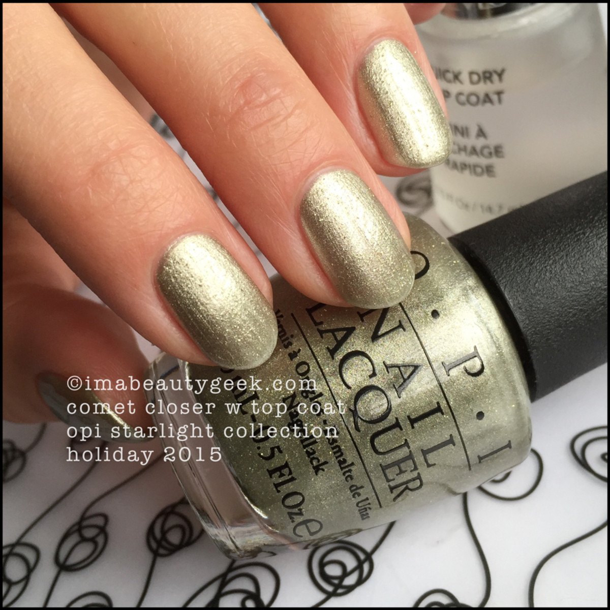 OPI Comet Closer_OPI Starlight Swatches Holiday 2015