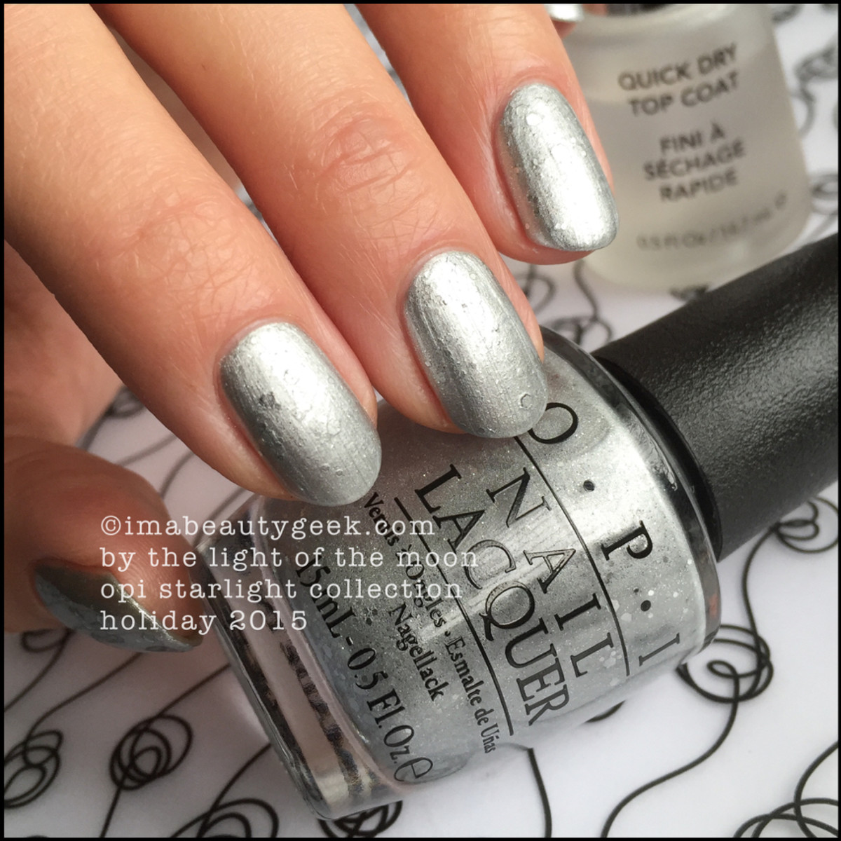 OPI By The Light of the Moon Top Coated_OPI Starlight Collection Swatches