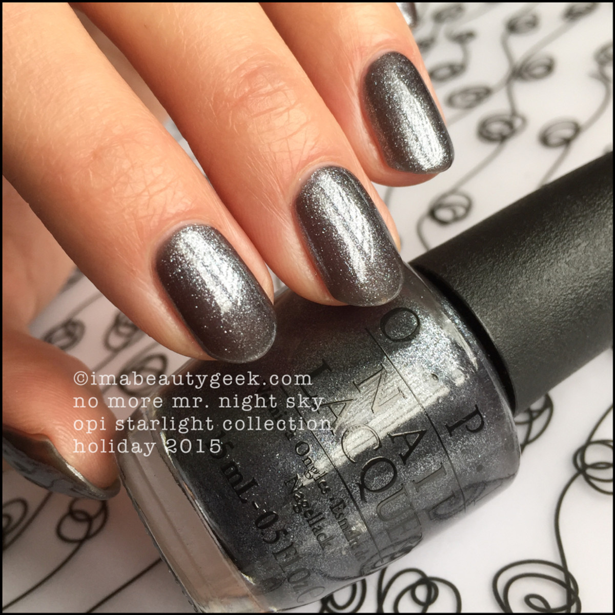 OPI Starlight Collection Swatches_OPI No More Mr Night Sky