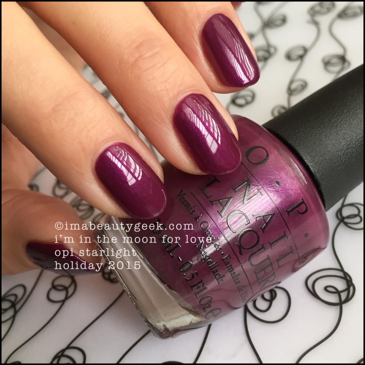 OPI I'm In The Moon For Love_OPI Starlight Collection Swatches Beautygeeks