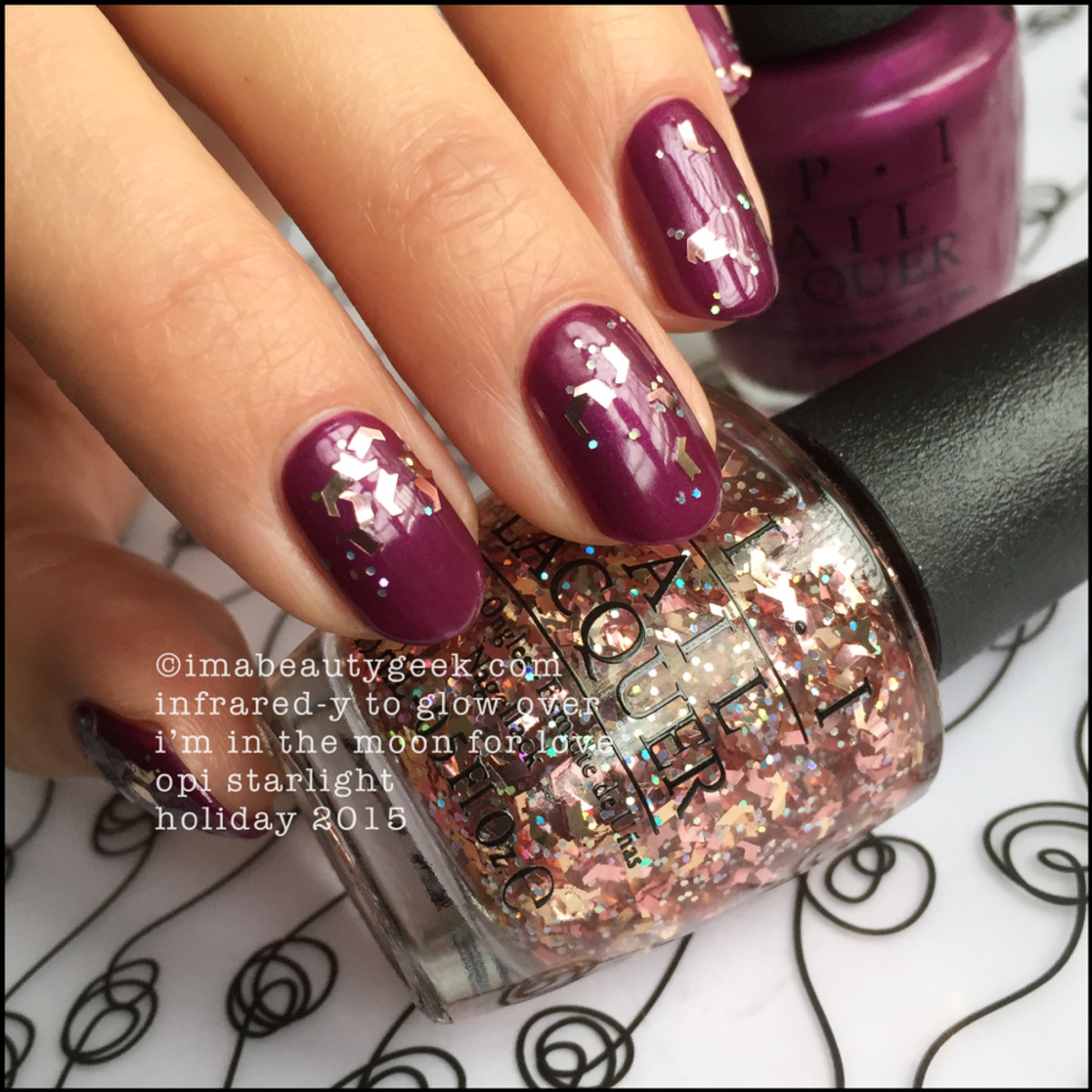 OPI Infrared-y To Glow_OPI Starlight Swatches Holiday 2015