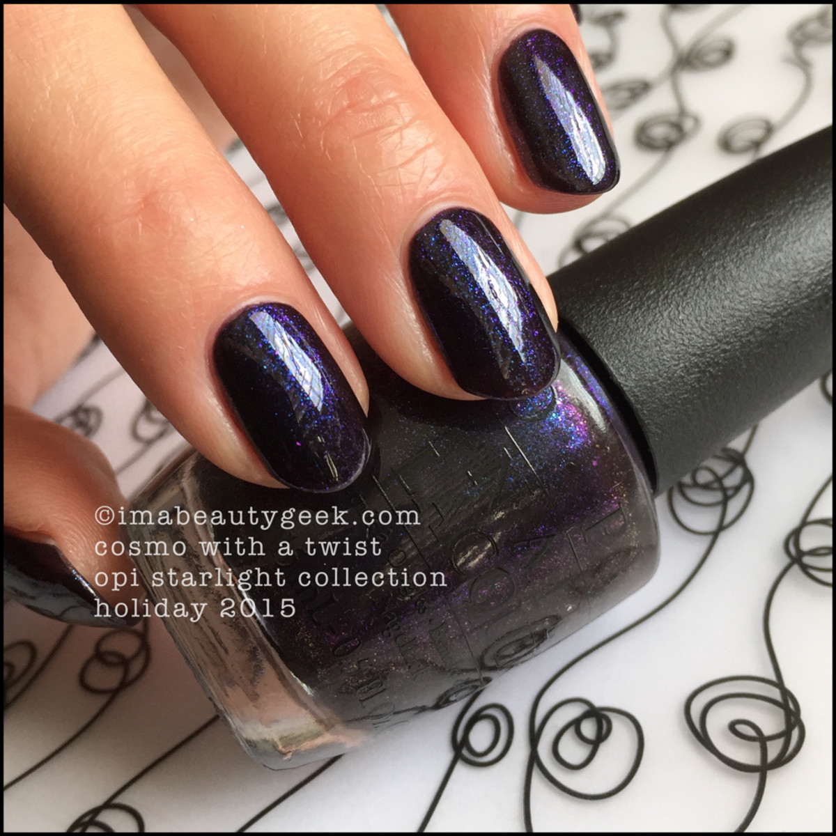 OPI Cosmo With a Twist Swatches_OPI Starlight Collection Holiday 2015