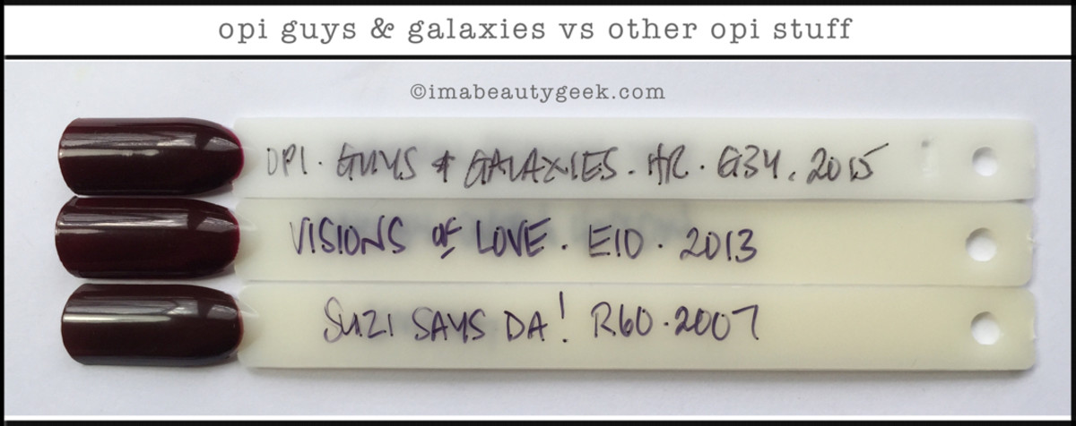 OPI Guys and Galaxies Comparison Swatch Starlight Collection 2015 Beautygeeks