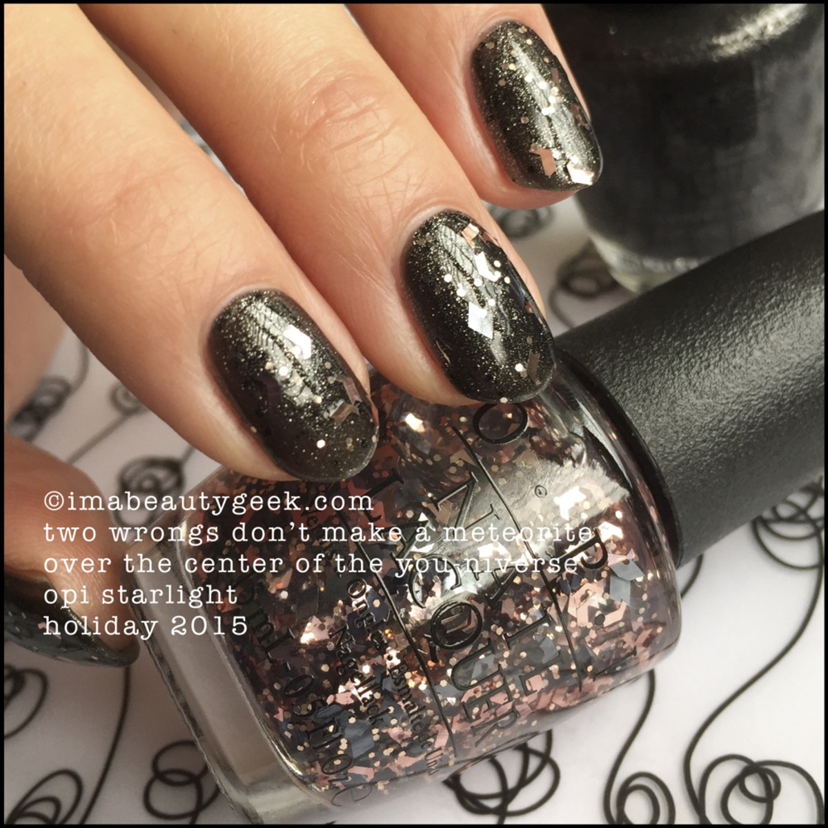 OPI Two Wrongs Don't Make a Meteorite over OPI The Center of the You-niverse – OPI Starlight Collection Holiday 2015