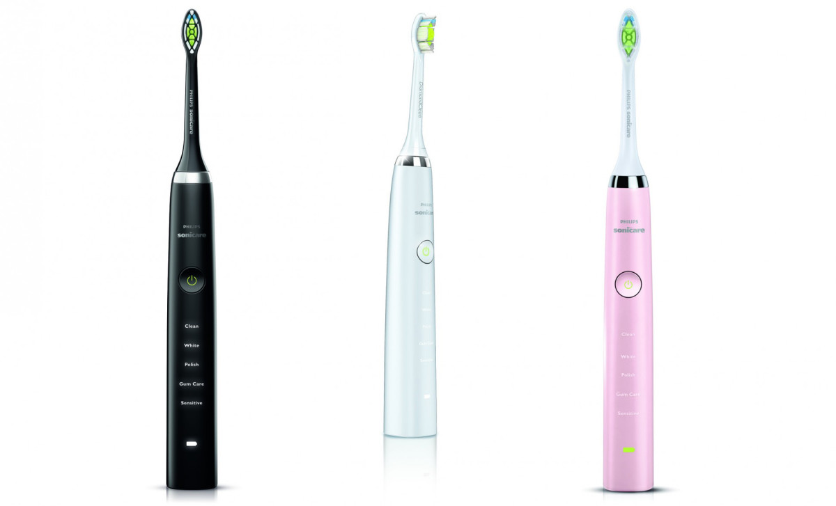 philips sonicare diamondclean black, white and pink