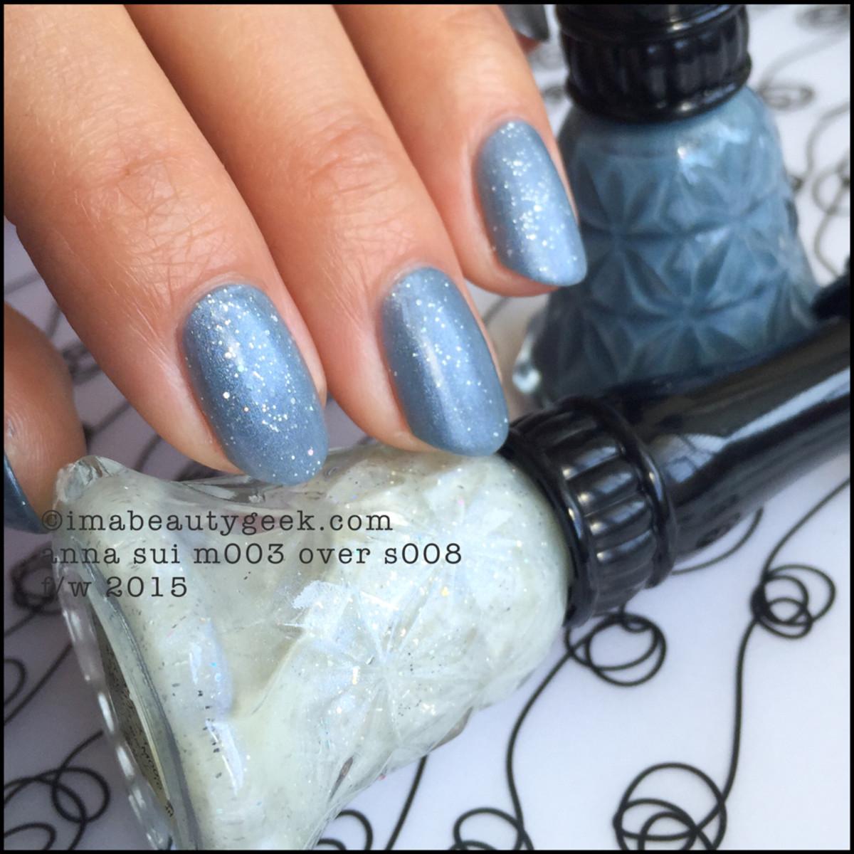 Anna Sui Nail Polish m003 over s008_Anna Sui Nail Color 2015