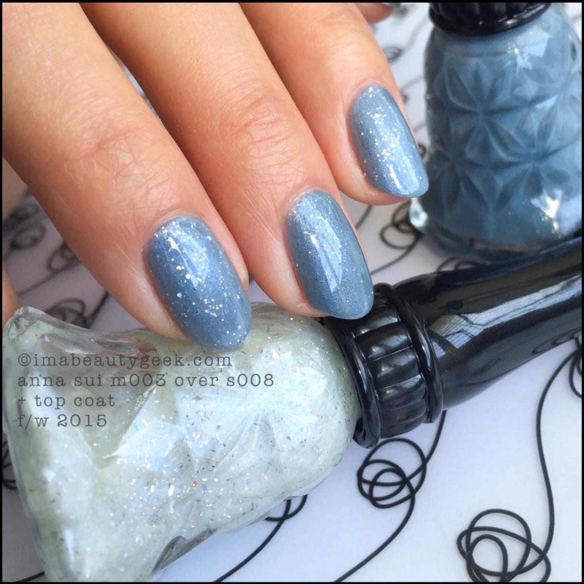 Anna Sui Nail Polish M003 over S008_Anna Sui Nail Color 2015_2