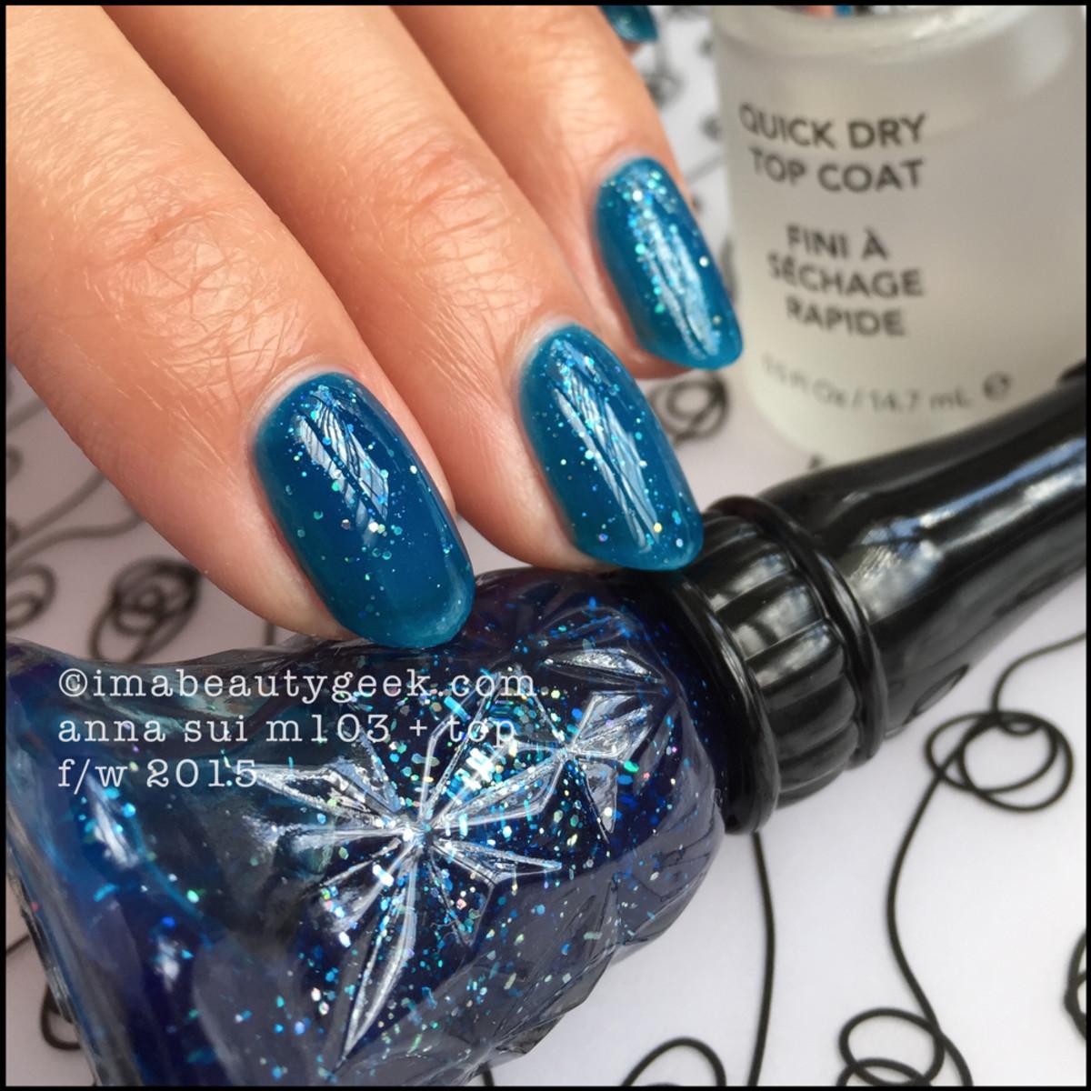 Anna Sui Nail Polish M103 w Top Coat_Anna Sui Nail Color M103