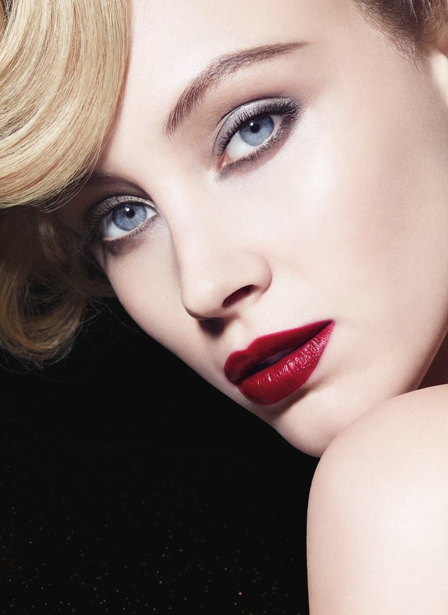 Sarah Gadon for Armani, wearing shades from the Luxe is More collection