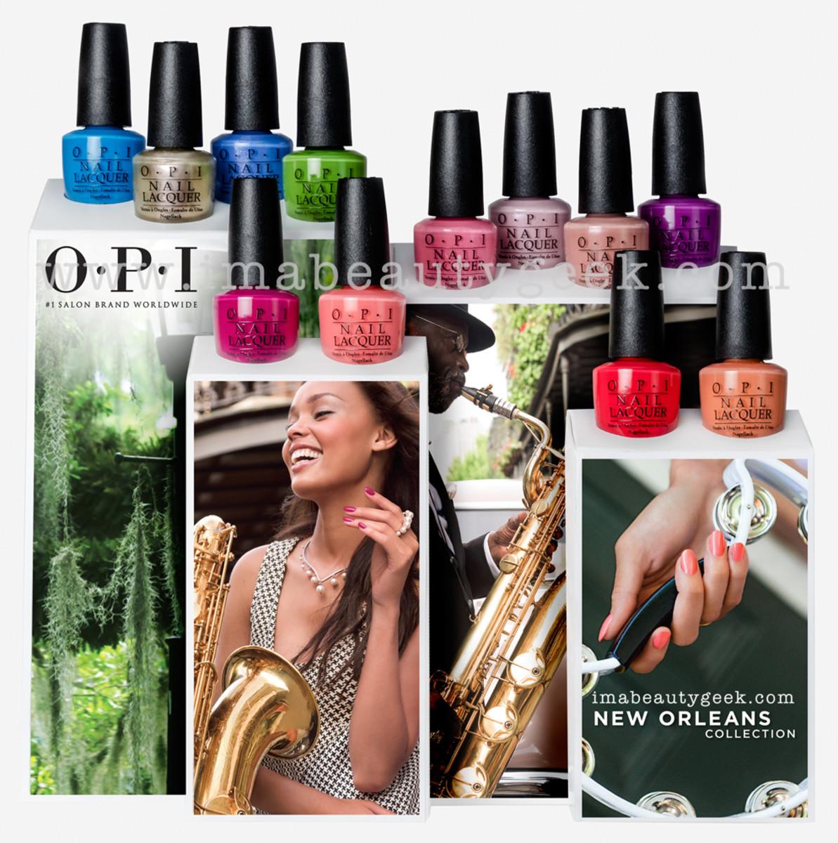 OPI New Orleans Display Set Beautygeeks
