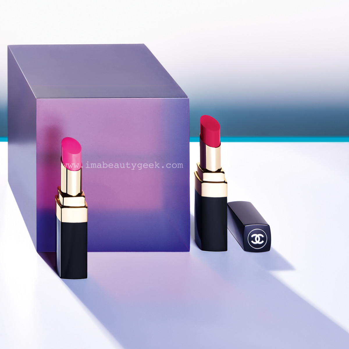 Chanel Spring 2015 LA Sunrise collection: Rouge Coco Shine in Mighty and Energy