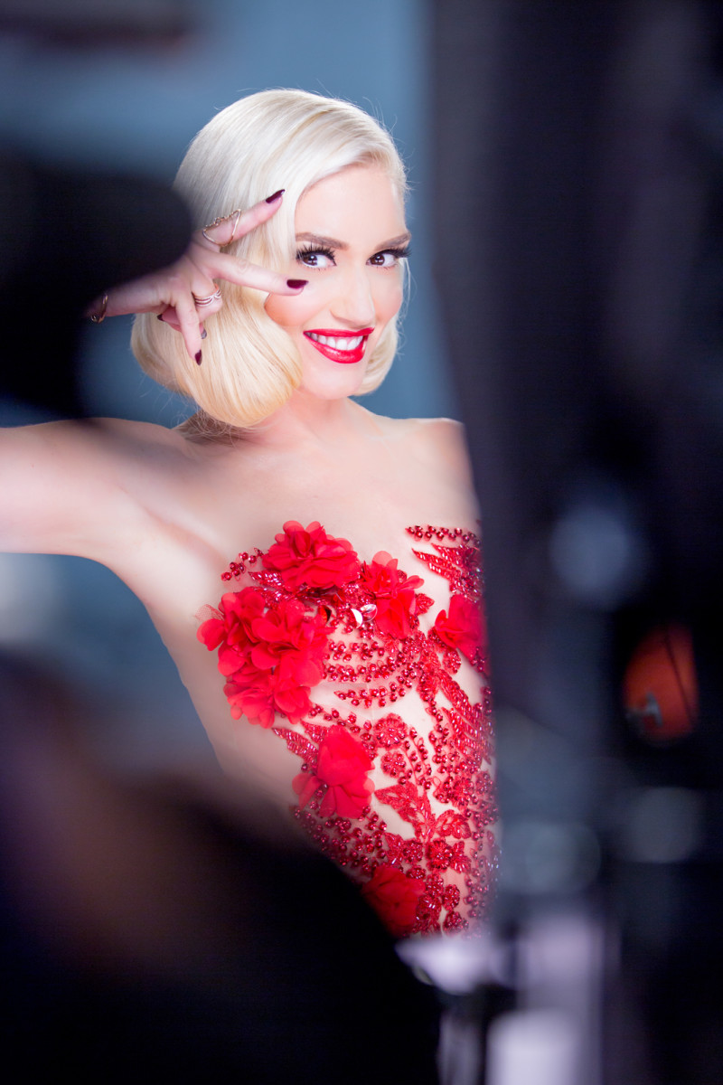 Behind the scenes: Gwen Stefani on the set for Revlon as the brand's newest global ambassador