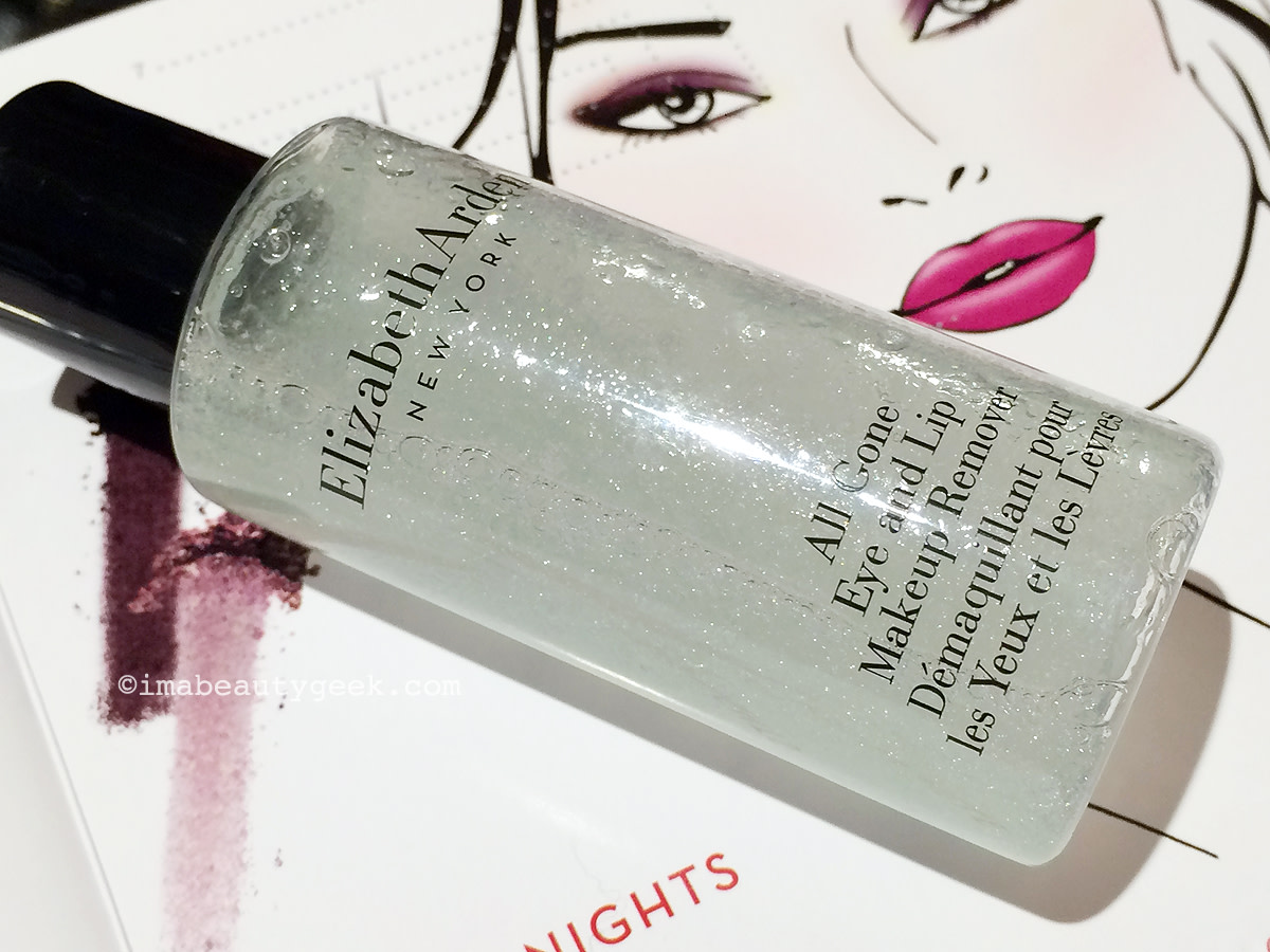 Elizabeth Arden Bright Lights, Big City collection bi-phase makeup remover for eyes and lip