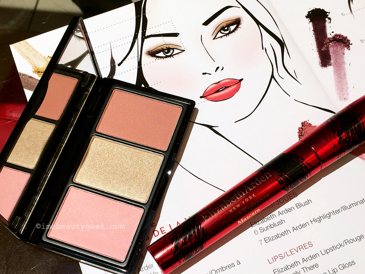 Elizabeth Arden Bright Lights, Big City collection cheek palette and mascara