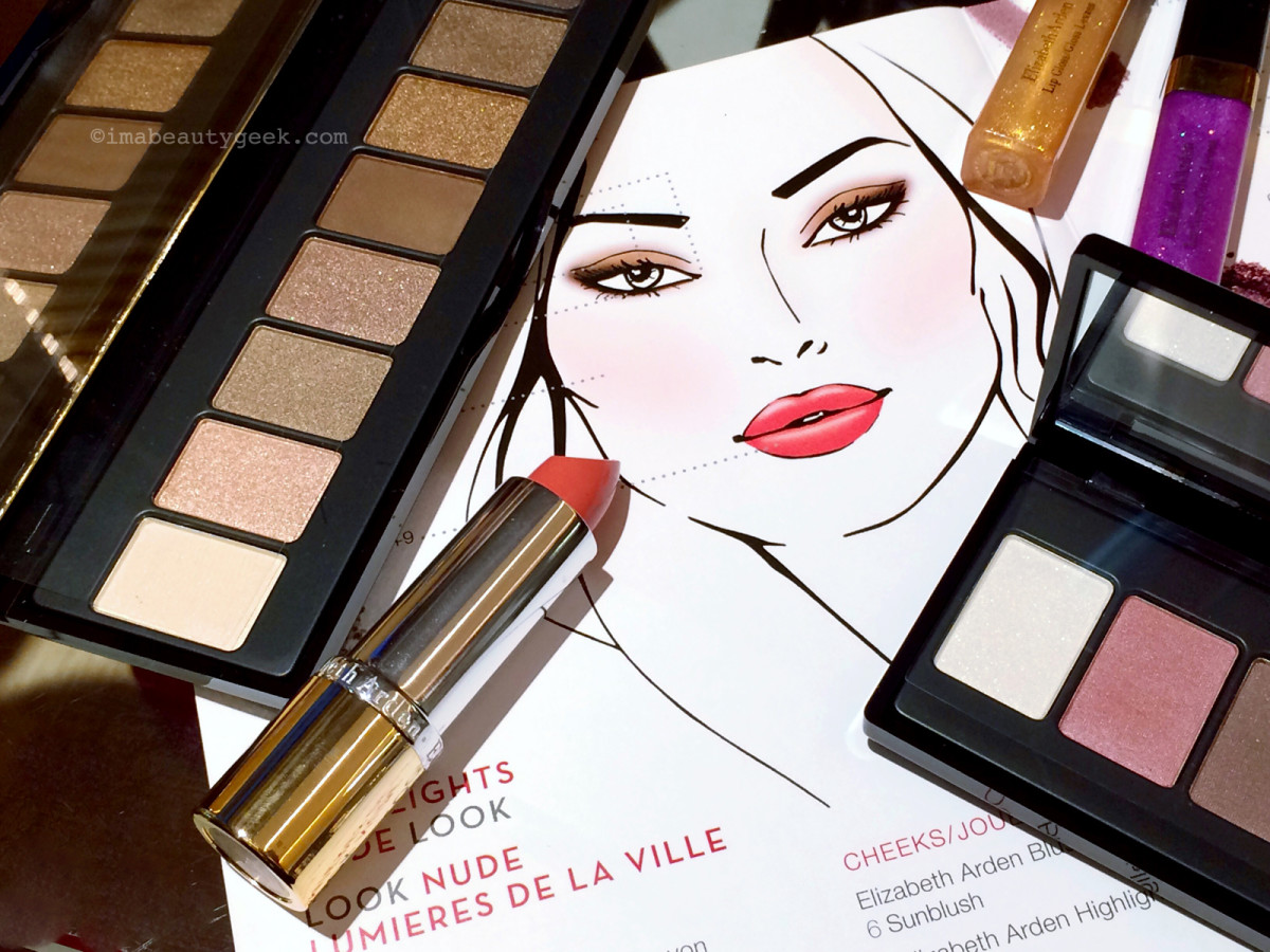 Elizabeth Arden Bright Lights, Big City beauty collection – that's the how-to look-booklet there.