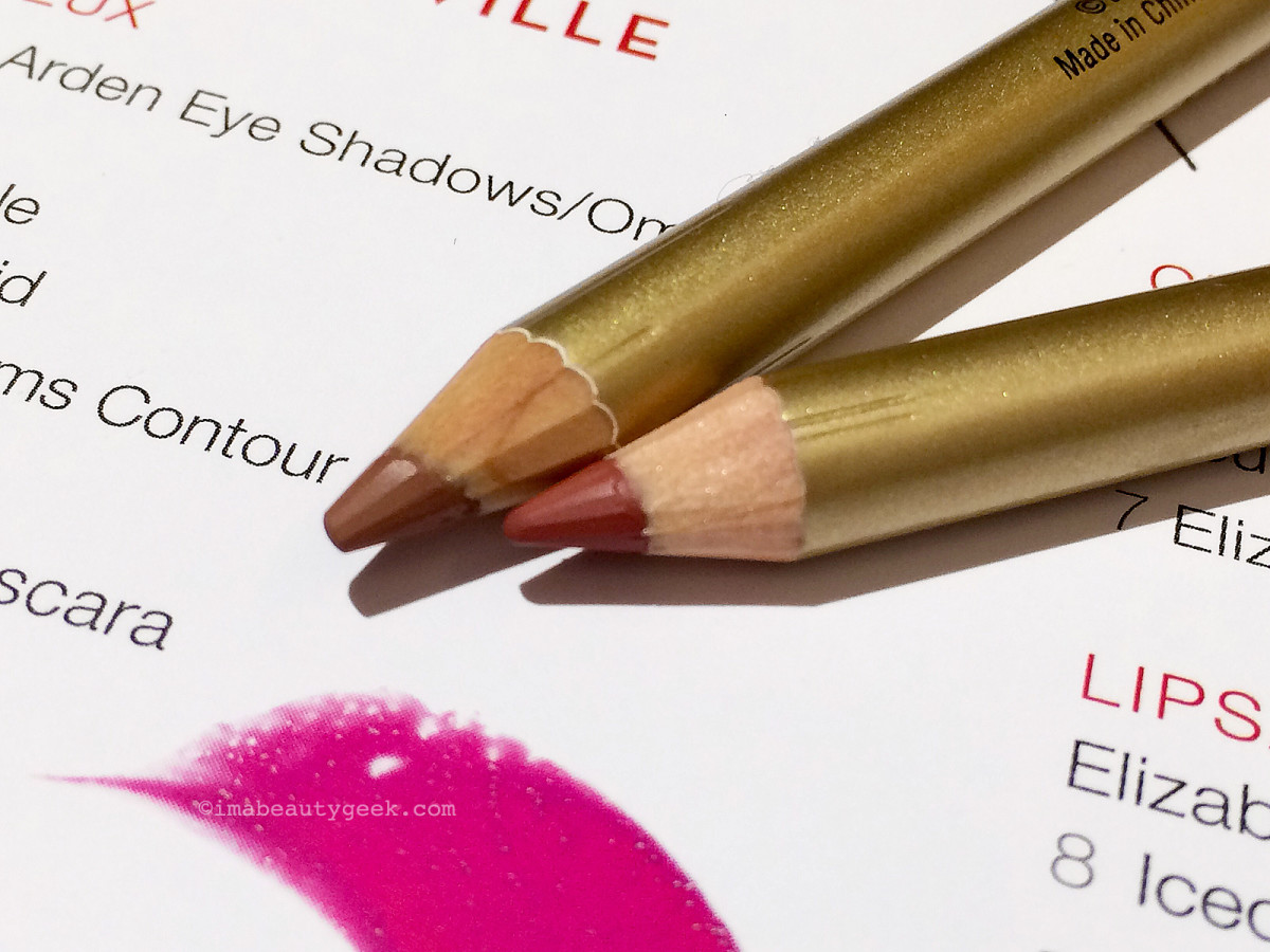 Elizabeth Arden Bright Lights, Big City collection lip pencils in Bare (top) and Natural