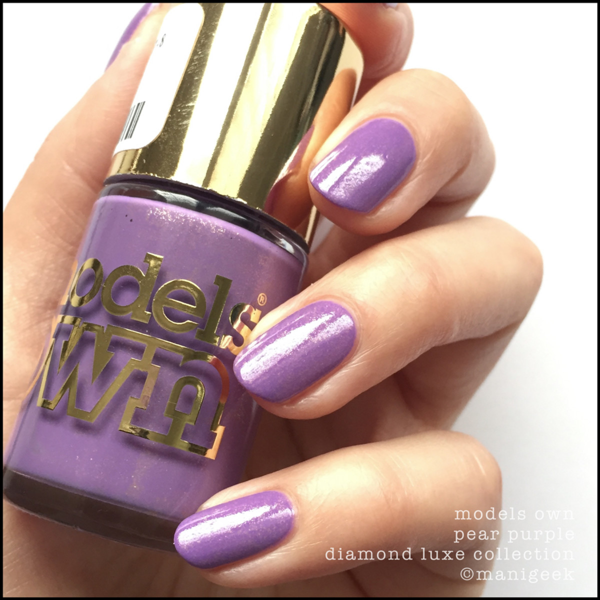 Models Own Pear Purple Swatches Review NOTD Beautygeeks