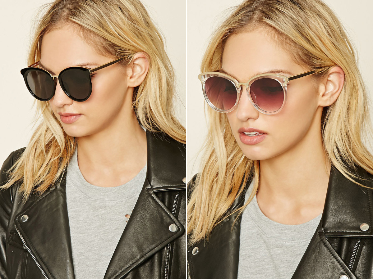 This pair of cat-eye sunglasses also has an Asian-fit profile, and comes in three variations.