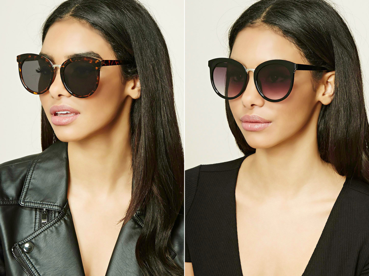 Cat-eye sunglasses at forever21.com, $8.90 CAD and $5.90 USD