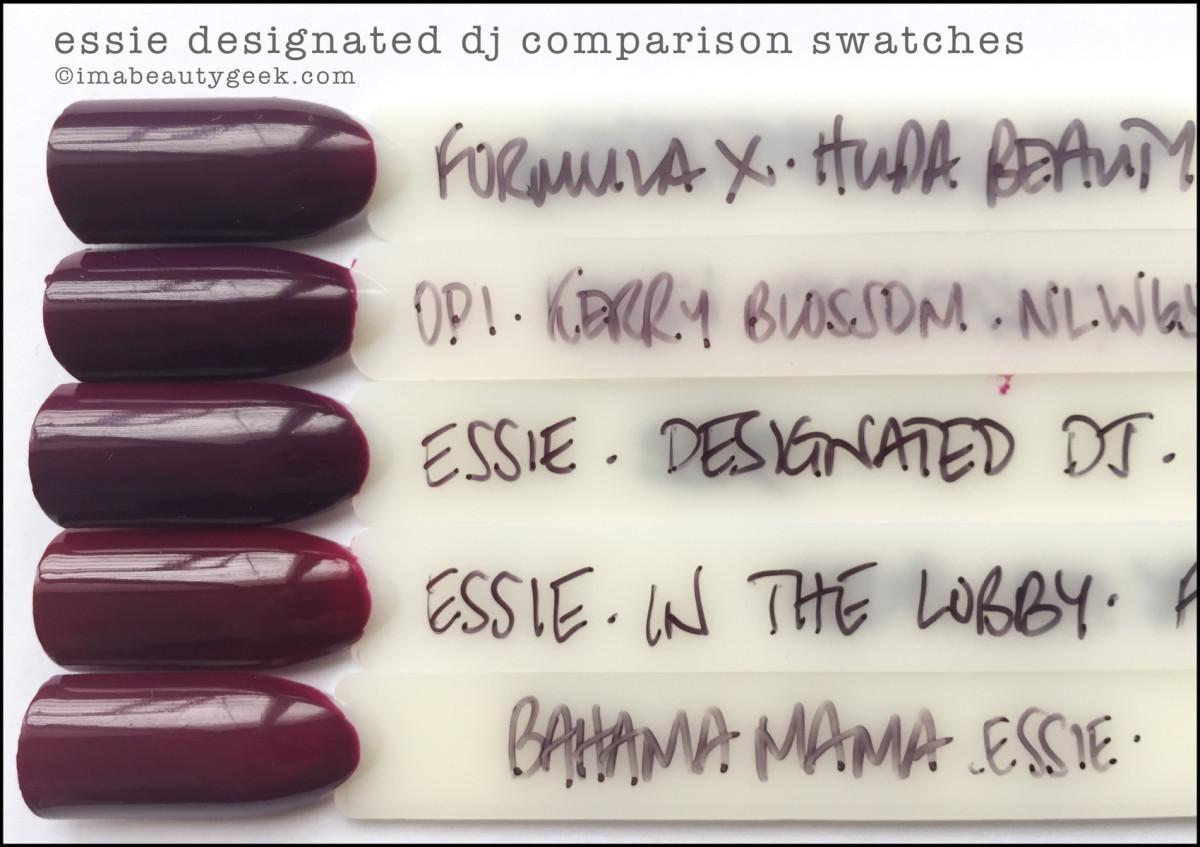 Essie Designated DJ Comparison Swatches Dupes_Essie Spring 2017