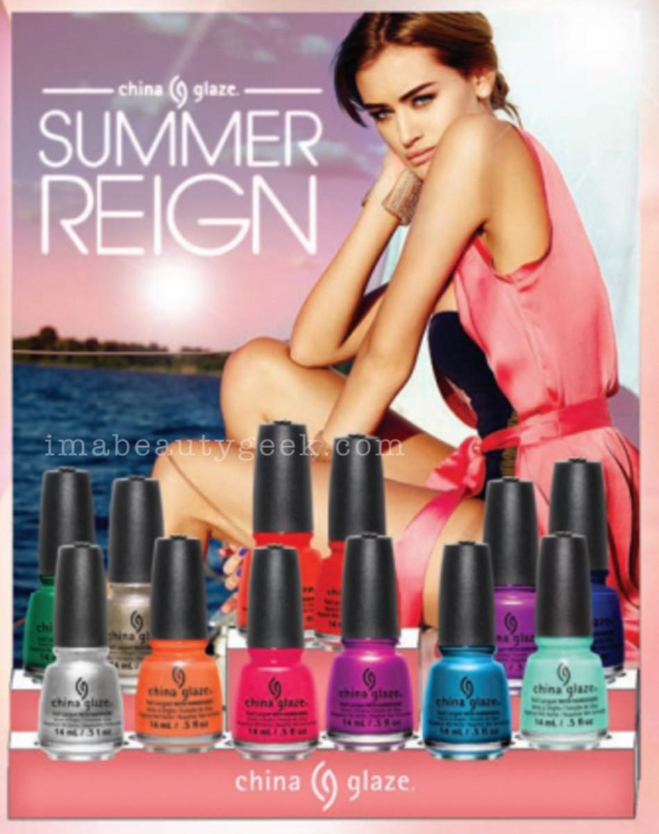 China Glaze Summer 2017 Collection_China Glaze Summer Reign Sneak Peek