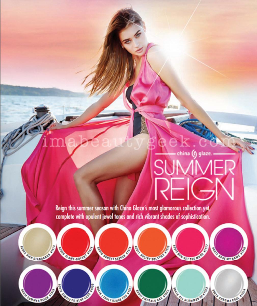 China Glaze Summer Reign 2017 Collection Sneak Peek