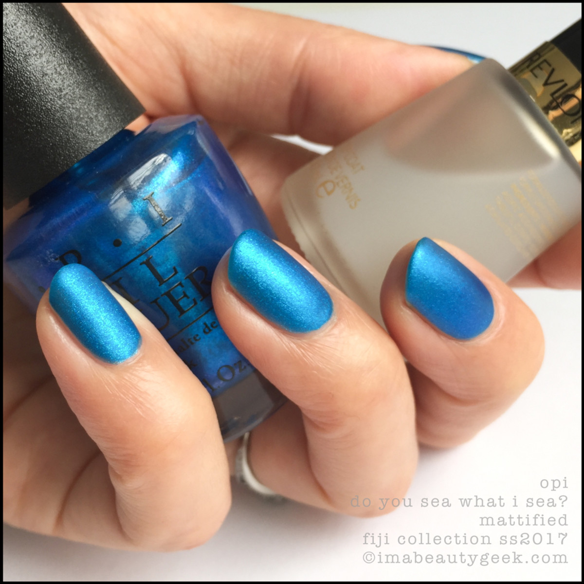 OPI Do You Sea What I Sea? Mattified_OPI Fiji Collection Swatches Review 2017
