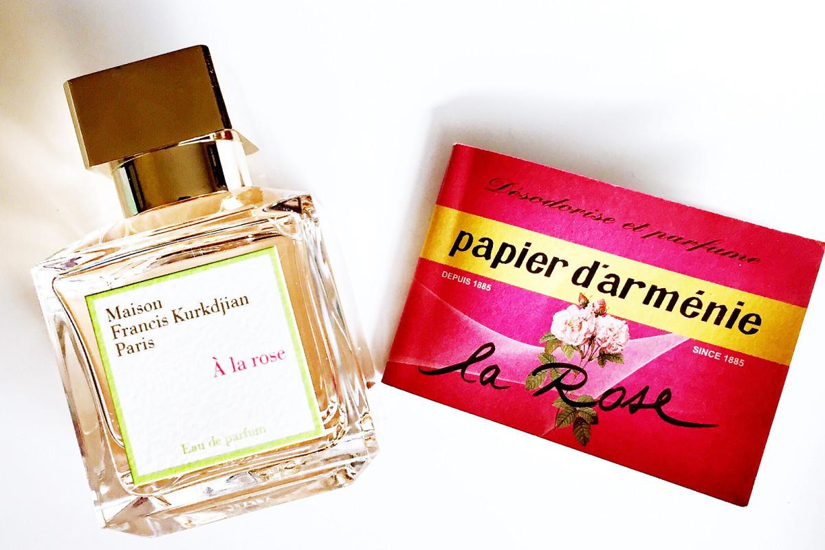 Maison Francis Kurkdjian Paris À la rose and scented burning papers
