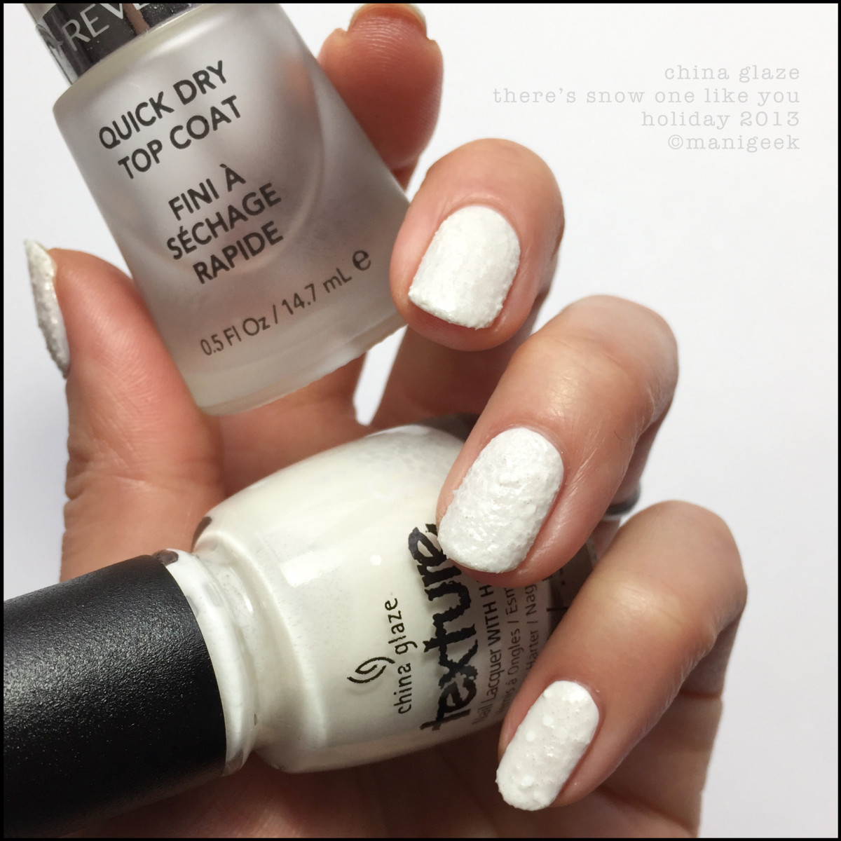 China Glaze There's Snow One Like You Cottage Cheese Nail Polish