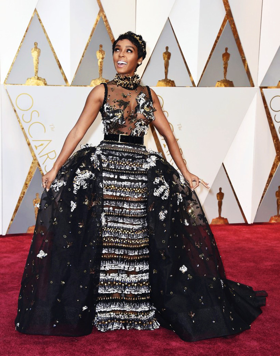 Janelle Monae in Elie Saab Couture at the 2017 Academy Awards